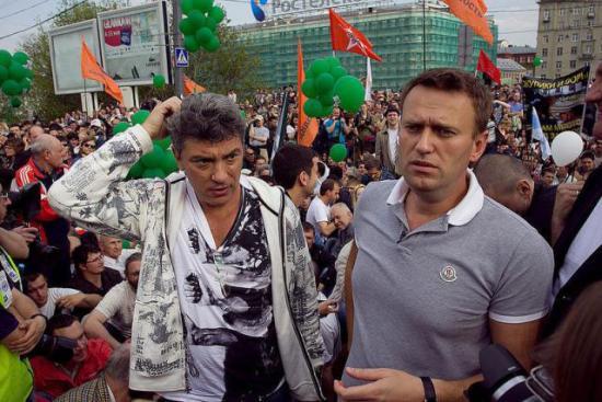 Алексей Навальный и Борис Немцов