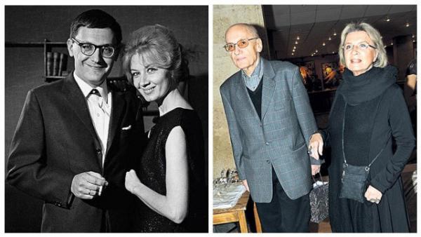 Алла Демидова с мужем