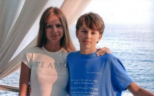 Андрей Удалов-Миронов в детстве с мамой