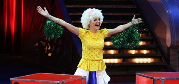 Ольга Шелест на арене цирка