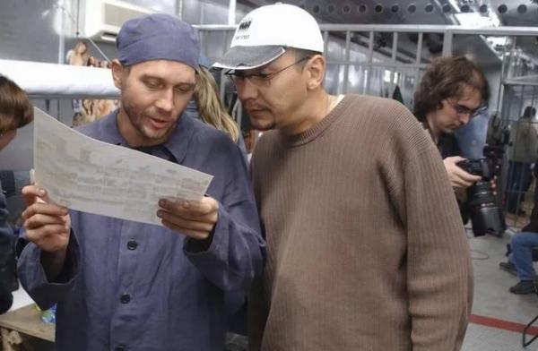 Кончаловский и Миронов на съемках фильма «Побег»