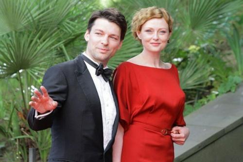 Даниил Страхов с женой Марией Леоновой
