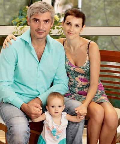 Андреев со своей супругой и дочерью