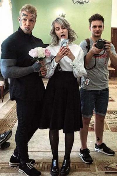Денис Шальных с бывшей женой Викторией Мельниковой