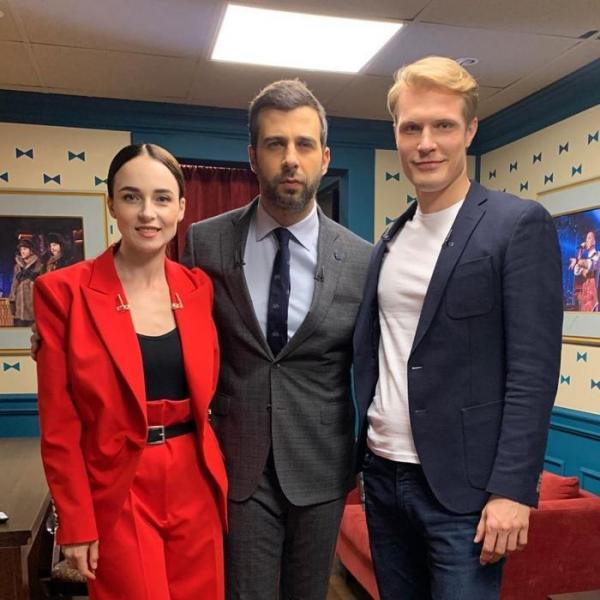 Кирилл Зайцев с партнершей по телесериалу «Коп»