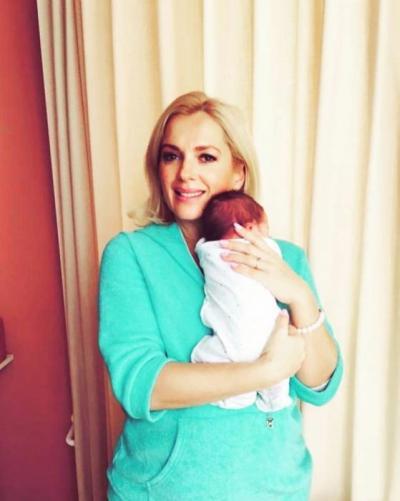 Мария Порошина и ее новорожденный сын