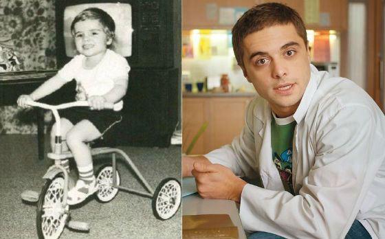 Илья Глинников в детские годы и сейчас