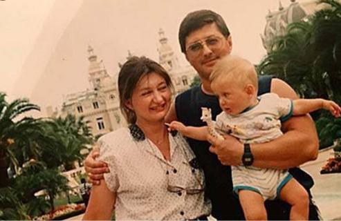 Александр и Наталья Мясниковы с сыном