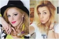 Юлианна Караулова до и после макияжа
