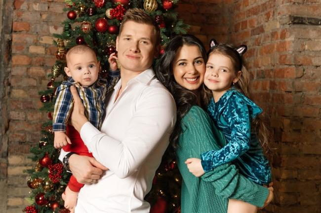 Белькович с семьей