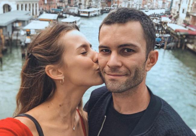 Александра Поснова с мужем