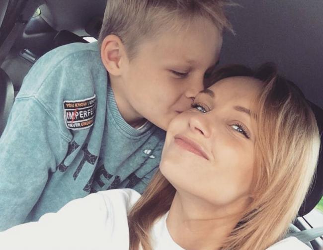 Юлия Подозерова с сыном