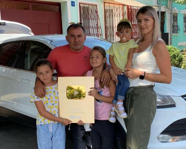 Георгий Кавказ с семьей