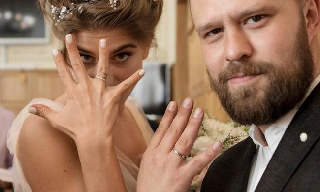Свадебное фото Нино Нинидзе и Кирилла Плетнева