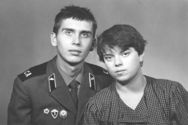 Анна Кирьянова с первым мужем