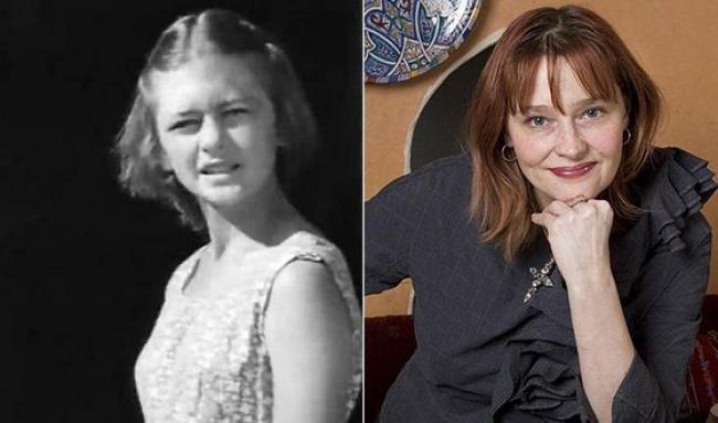 Елена Дробышева в юности и сейчас