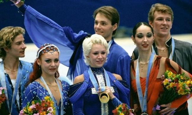 Оксана Грищук и Евгений Платов на Олимпиаде в Нагано