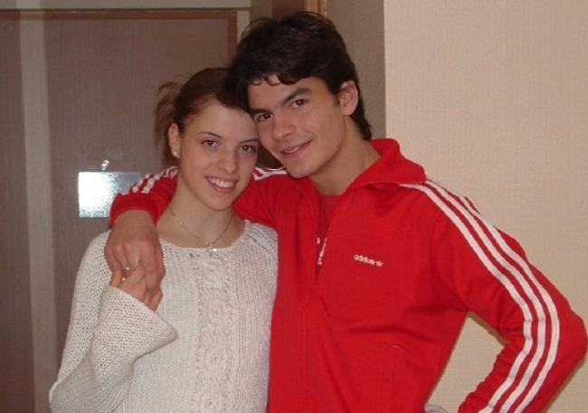 Стефан Ламбьель с Каролиной Костнер