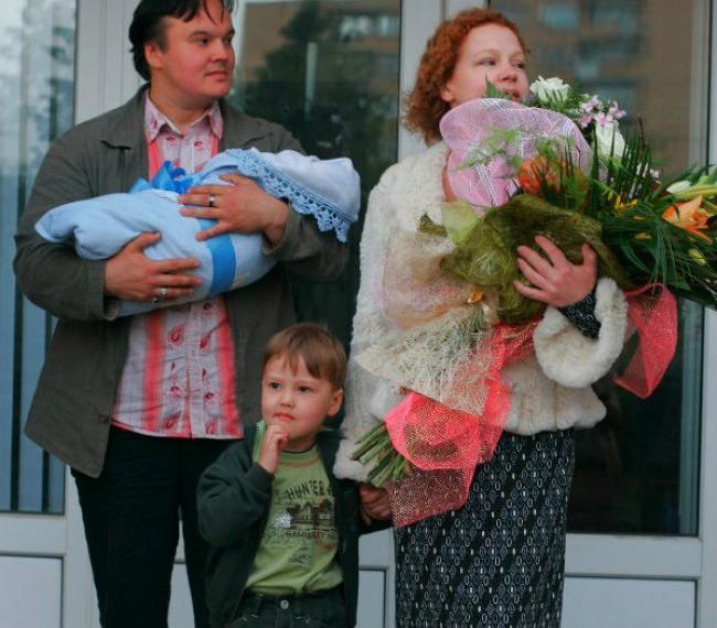Абрамова и Кулишенко с детьми