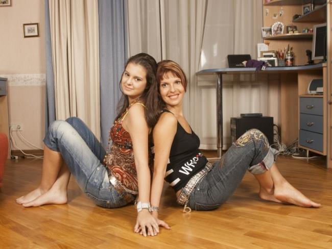 Наталья Штурм с дочкой