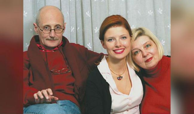 Эмилия Спивак с родителями