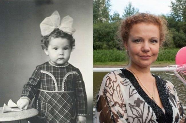 Татьяна Абрамова в детстве
