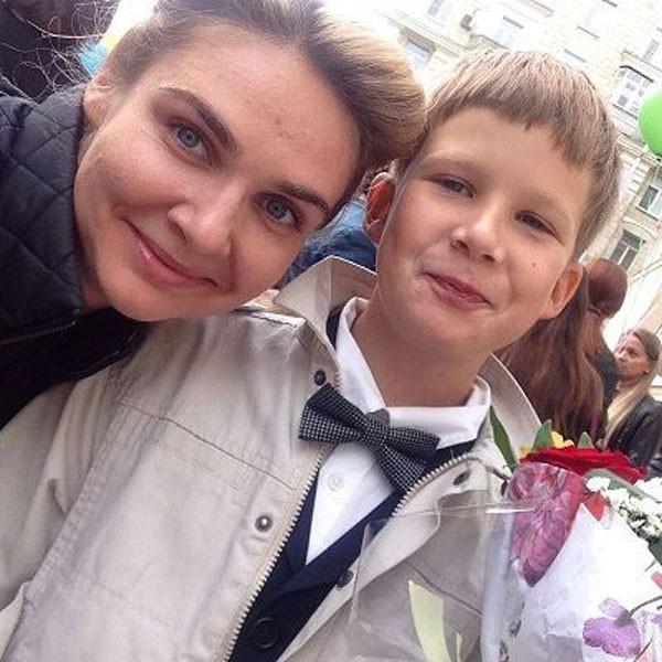 Анна Шафран с сыном