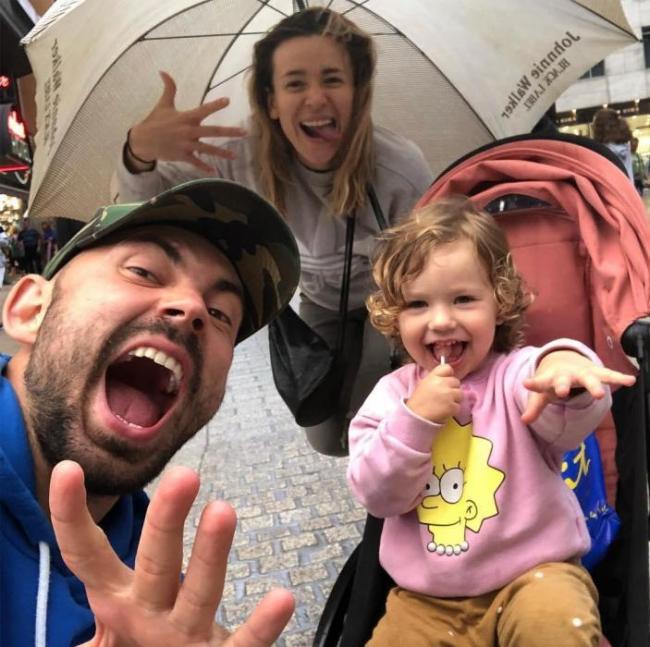 Настя Короткая с семьей