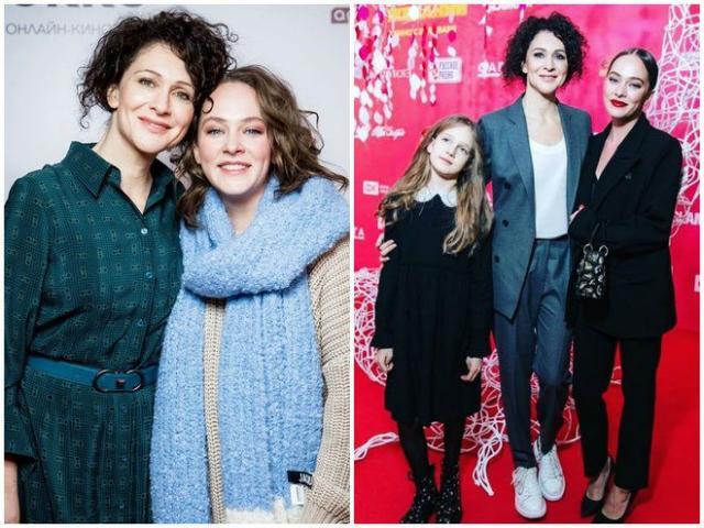 Ксения Раппопорт с дочками