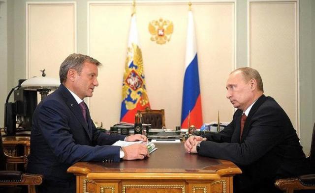 Герман Греф и Путин