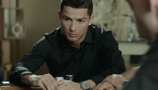 Роналду на съемках рекламы для PokerStars