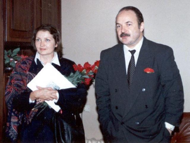Жанна Болотова с мужем