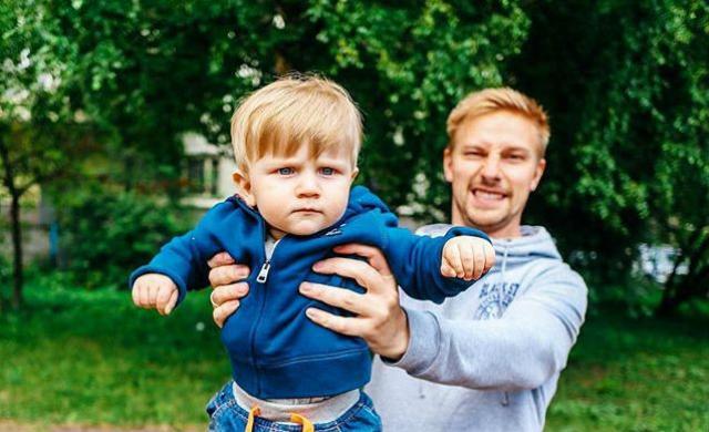 Костя Павлов с сыном