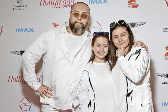 Борис Ливанов с дочкой и Марией Голубкиной
