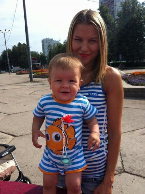 Елена Щербакова с сыном