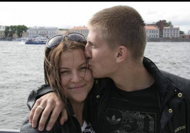 Алексей Щербаков с женой