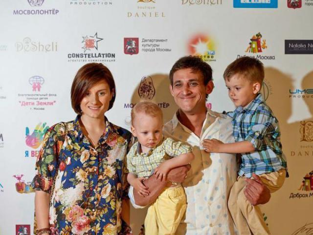 Башкатов с женой и детьми
