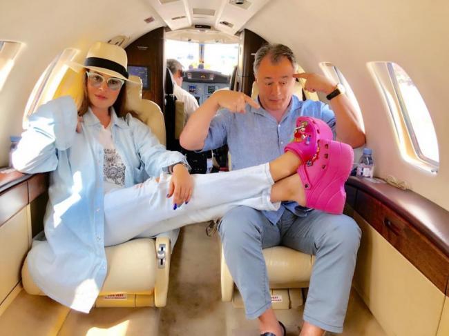 Екатерина Андреева с мужем