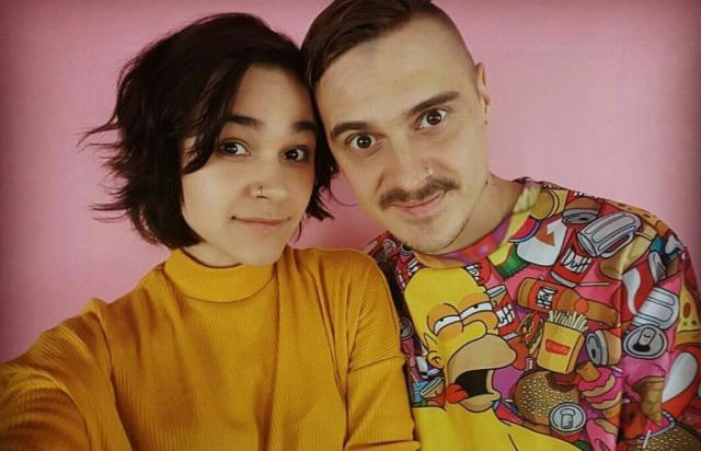 Илья Прусикин с женой