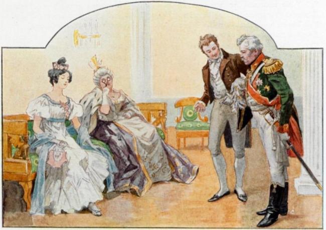 Встреча Татьяны и Онегина на балу