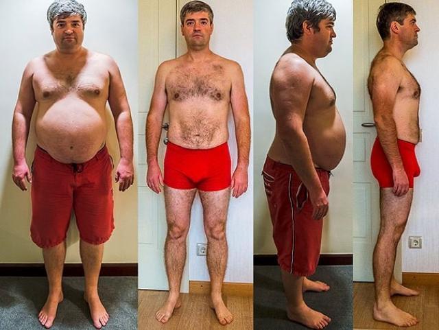Этапы похудения Сергея Доли
