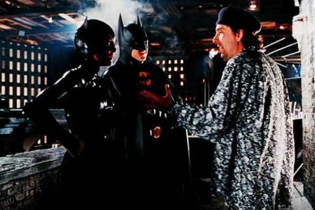 Тим Бертон на съемках фильма «Бэтмен»