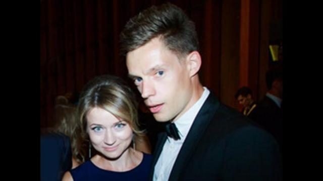Юрий Дудь с женой