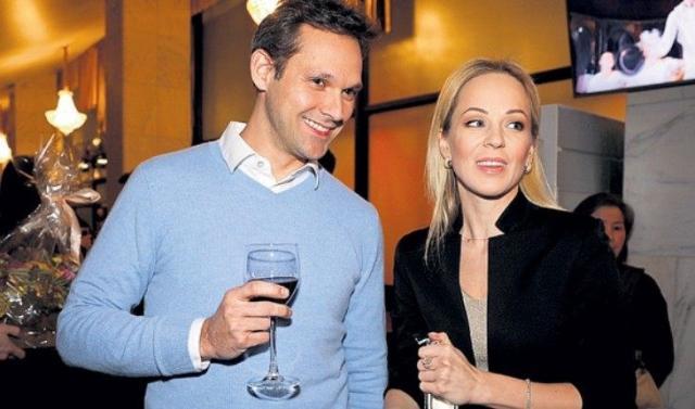 Ирина Медведева и муж Гийом