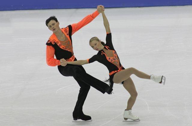 Татьяна Тотьмянина с партнером Максимом Марининым