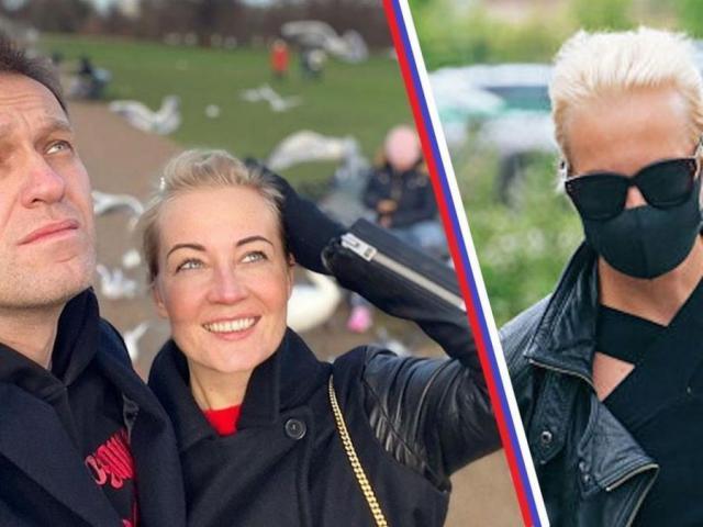 Супруги Навальные во время карантина
