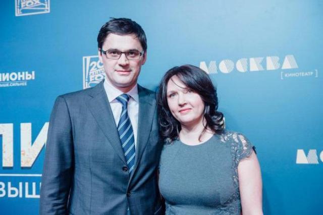 Александр Попов с женой
