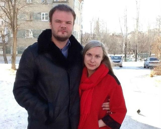 Настя Дашко с мужем