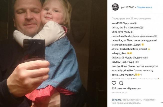 Петр Баранчеев с дочкой