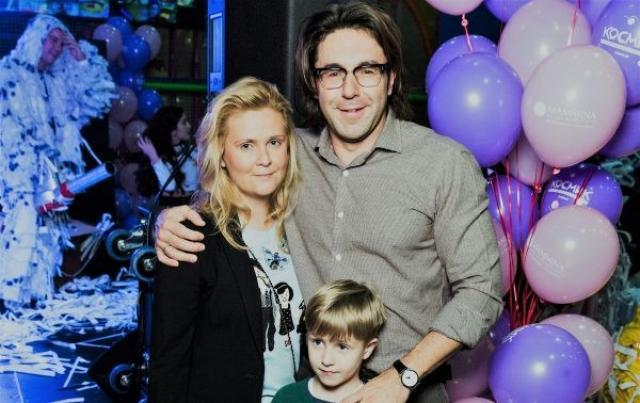 Андрей Малахов с женой и сыном